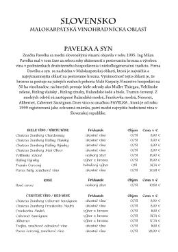 Vínna karta - PilsnerRestaurant.sk