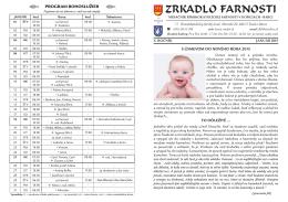 ZRKADLO farnosti - január - Rímskokatolícka farnosť Košice