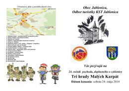 3HRADY 2014 - Obec Jablonica
