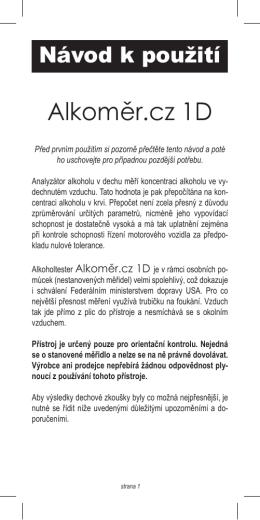 Alkoměr.cz 1D