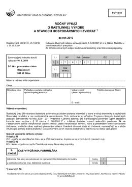 Poľ 18-01 - Štatistický úrad SR