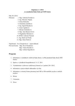 (Zápisnica zo zasadnutia RŠ 20.4.2012)