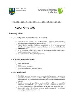 propozície - Turčianska knižnica v Martine