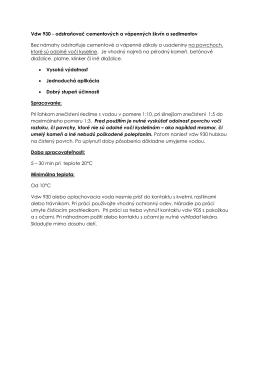 Vdw 930 - odstraňovač cementových a vápenných