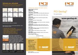 PCI Geofug® - pre spracovateľov