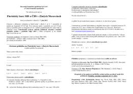 Floristický kurz SBS a ČBS v Zlatých Moravciach