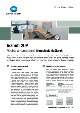Leták k bizhub 20P, PDF