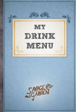 My drink menu and My coffee book