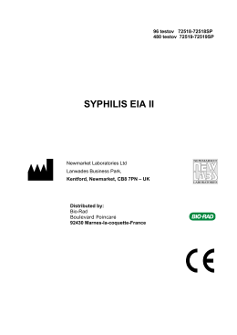 72518-19 SYPHILIS EIA II (V2 11-09) CZ - Bio-Rad