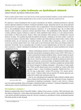 Jules Verne a jeho hrdinovia vo fyzikálnych úlohách
