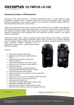 Katalóg príslušenstva - NEWTON Technologies as