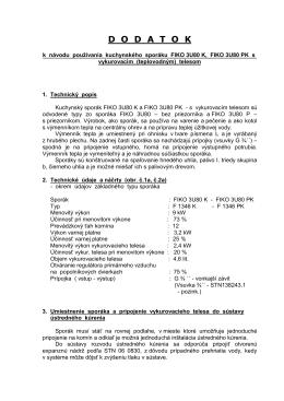 Dodatok Fiko 3U80-K Technický popis2