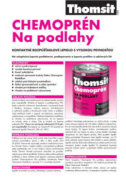 CHEMOPRÉN Na podlahy _Technicky list