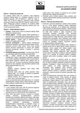 všeobecné poistné podmienky pre poistenie platieb