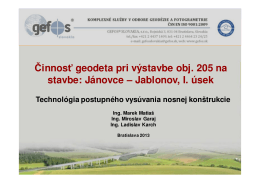Jánovce – Jablonov, I. úsek