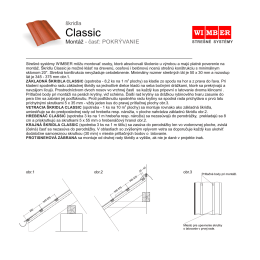 Montáž škridla Classic