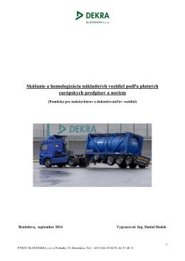 Viacstupňové schvaľovanie nákladných vozidiel