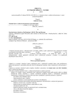 Návrh zmluvy o výkone správy