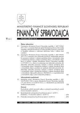 Finančný spravodajca 9/2011