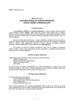 Smernica upravujúca postup pri verejnom obstarávaní