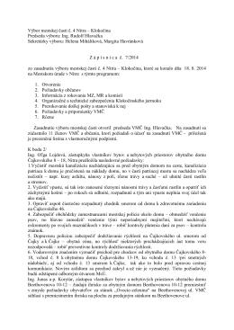 Zápisnica zo zasadnutia VMČ 4 zo dňa 18.8.2014