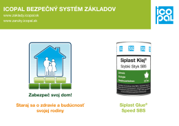 Siplast Glue ® Speed SBS