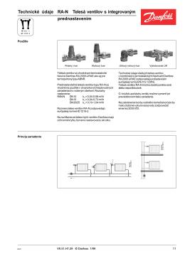 Ventilové telesá Danfoss RA-N - thermo