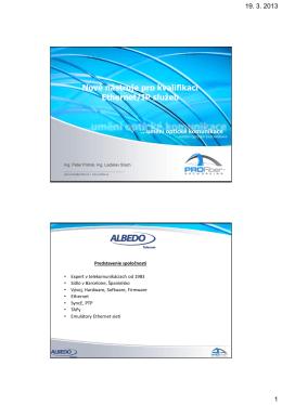 Nové nástroje pro kvalifikaci Ethernet/IP služeb
