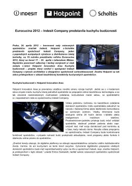 Eurocucina 2012 – Indesit Company predstavila kuchyňu budúcnosti