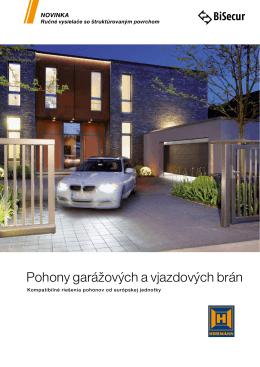 Katalóg pohony pre garážové brány