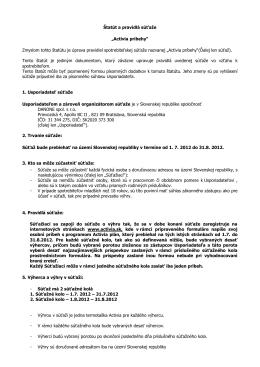 """Statut a pravidla soutěže """"Aktivujte se s Actimelem"""