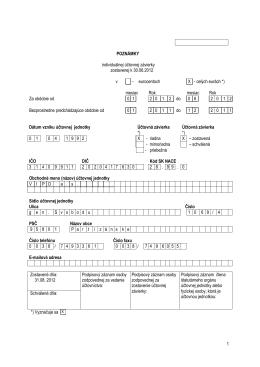 Poznámky k účtovnej závierke za I. polrok 2012