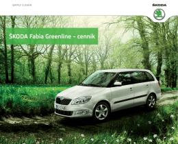 ŠKODA Fabia Greenline – cenník
