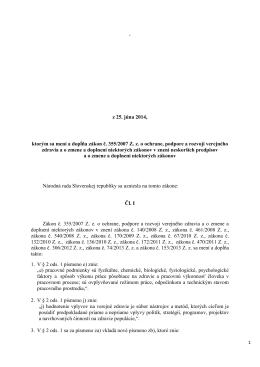 z 25. júna 2014, ktorým sa mení a dopĺňa zákon - vzdelavanie