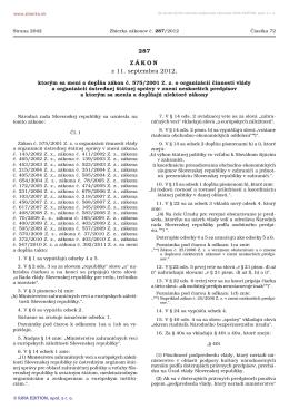 287/2012 - Ministerstvo vnútra SR