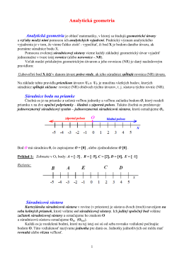 18 - Analytická geometria