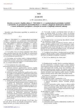 519/2011 - Ministerstvo dopravy, výstavby a regionálneho rozvoja SR