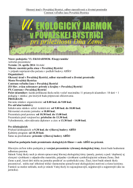 Okresný úrad v Považskej Bystrici, odbor starostlivosti o životné