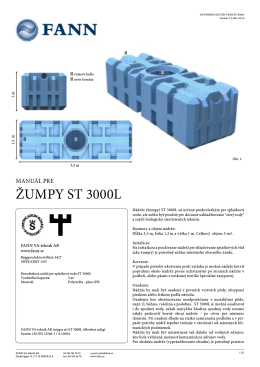 Manuál pre žumpy ST 3000L