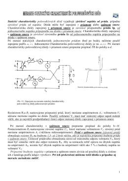 ELM Statické charakteristiky polovodičových diód
