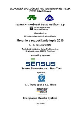 slovenská spoločnosť pre techniku prostredia