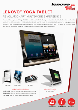 LENOVO® YOGA TABLET