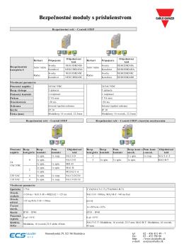 Bezpečnostné moduly s príslušenstvom