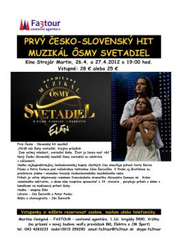 prvý česko-slovenský hit muzikál ôsmy svetadiel