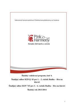 2. ročník Hudba – Hra na klavíri Študijný