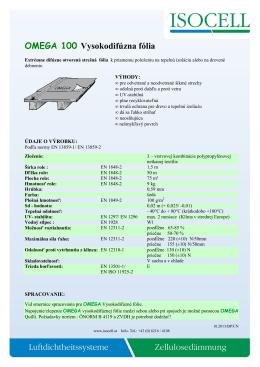 PDBL OMEGA 100 Dachbahn SK