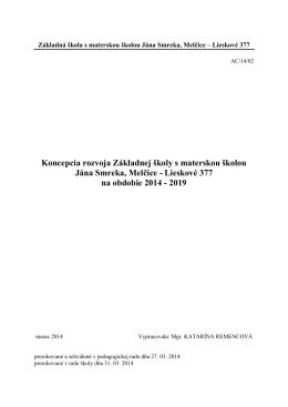Koncepcia školy14-19.pdf - ZŠ s MŠ Jána Smreka Melčice