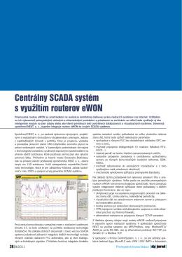 Centrálny SCADA systém s využitím routerov eWON