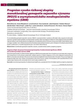 MGUS - Onkologie