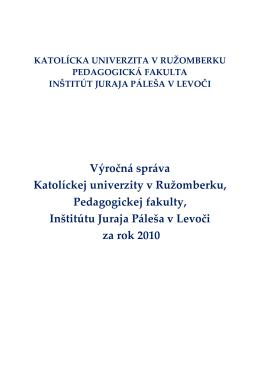 Výročná správa IJP v Levoči za rok 2010-1